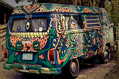 Hippie Bus (MissMae) Tags: wild bus art love vw bug san artist peace grafitti florida painted magic diego fair explore hippie jacksonville custom autobus 2009 entry volkswagon scramble vwbus accepted ameliaisland hippiebus camble savagephotography