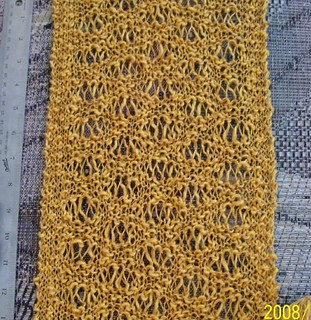 Ravelry: Simply Knit - One Stitch Lace Scarf pattern by ...