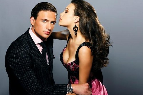 celebrity swimmer ryan lochte with a model, picture, photo, wallpaper