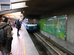 The Montreal Metro: A Train arriving at Snowdon Station. (Steve Brandon) Tags: montreal quebec canada montral qubec metro mtro snowdon station subway train underground railroad railway bombardier subwaycars metrocars publictransportation publictransport publictransit stm socitdetransportdemontral mtc montrealtransportcommission stcum muctc passenger people    geotagged              lemtrodemontral motionblur