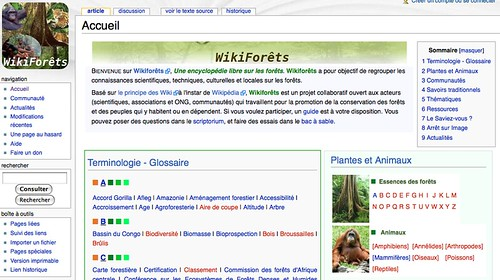 Wikiforêts: Knowledge Base for African Forests
