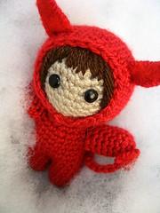 Piu 666 (Amigurumis Piu) Tags: chile santiago navidad lucifer handmade crochet 666 cielo mano devil amigurumi regalo piu diablito hecho amigurumis diablita