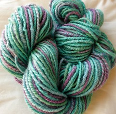 4oz BFL - Knitted Wit- navajo pied 92yards
