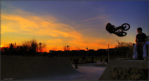 sunset bmx in BCN