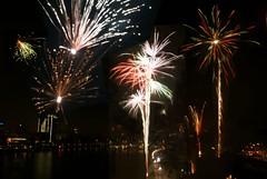 HAPPY NEW YEAR DEAR FLICKR FRIENDS (Suzanne's stream) Tags: bridge sylvester fireworks main newyea