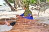 Palm Leaves weaver (Mnaifaru) Tags: old woman tree smile work leaf coconut maldives weaving heard beautifull d90 mnaifaru