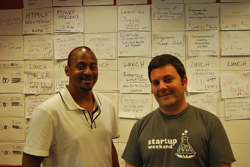 Wayne and Jeff at BarcampRDU