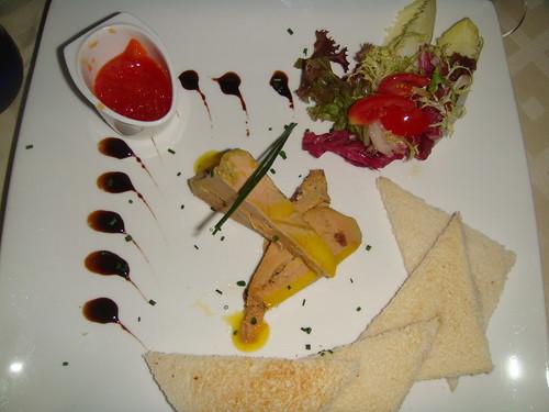 Foie gras mi-cuit al moscatel y naranja