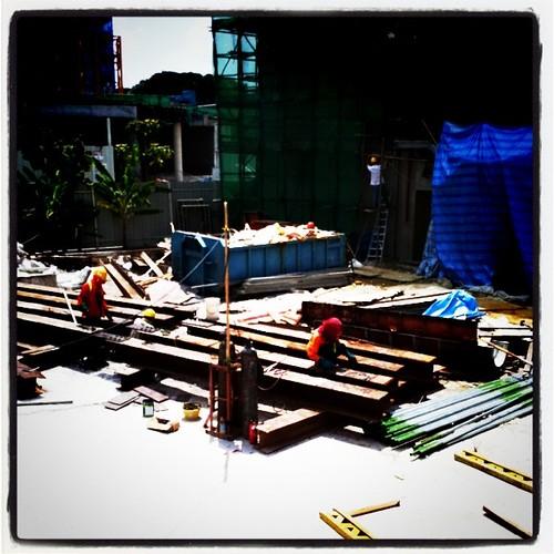 Working under hot sun