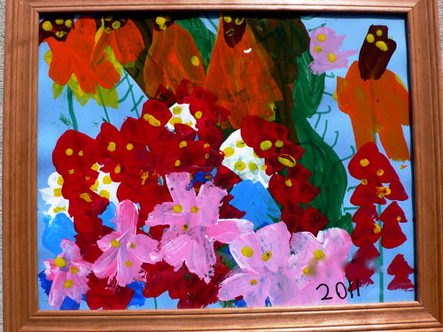 A painting by Max for my Mother's Day gift