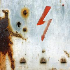 Sorcerer (daliborlev) Tags: square rust magic urbandecay rusty brno oxidation damage electricity arrow lightningbolt mundanedetail humanfigure