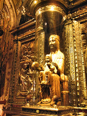 Virgin of Montserrat (chasing parades) Tags: barcelona travel mountain travelling glass abbey gold spain october europe tour christ madonna jesus orb catalonia altar espana holygrail montserrat traveling benedictine virginmary gilded pilgrimage sanctuary rockformation blackmadonna sedimentaryrock benedictineabbey lamoreneta infantchrist jaggedmountain santamariademontserrat virginofmontserrat pinkconglomerate