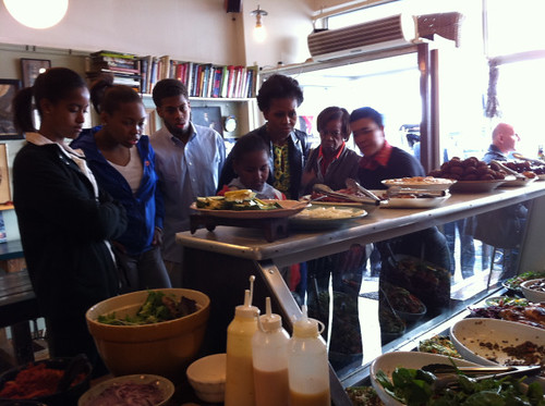 The Obama family dine at The Kitchen, a famous hot spot in Cape Town
