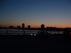 Charles River Sunset (bawoodvine) Tags: bridge cambridge sunset summer buildings massachusetts bridges sunsets streamsandrivers