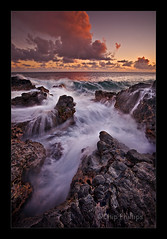 Poipu Lava Sunset (Chip Phillips) Tags: sunset beach rock landscape photography hawaii lava bravo phillips kauai chip poipu