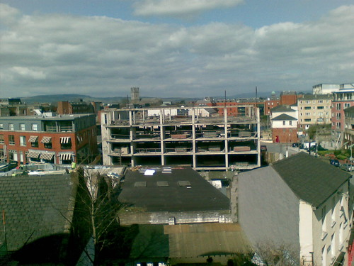 Empty building site in Limerick