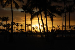 Waikiki Beach Sunset (Steve Carlton) Tags: beach hawaii nikon honeymoon waikiki oahu honolulu waikikibeach beachsunset afs hawaiibeach d40 hawaiisunset waikikisunset nikon1855mm nikon55200mm nikon55200 nikon1855 oahusunset nikond40 oahubeach
