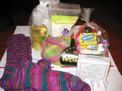 The sock and its swap box contents