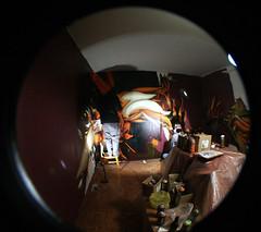 geri's room (mrzero) Tags: detail art lines wall effects graffiti 3d mural paint hungary action eger letters spray fisheye heat styles colored graff cfs hepi mrzero bki