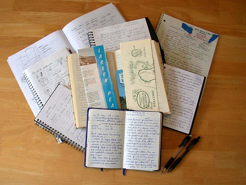 Notebook collection, vía flickr por Dvortygirl