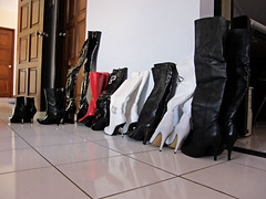 My Boot Collection (johnerly03) Tags: red white black shoe shoes boots thigh sole knee ankle