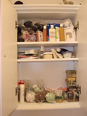 Poor, overloaded cabinet.