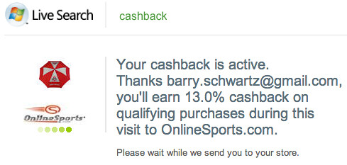 Live Search cashback 5