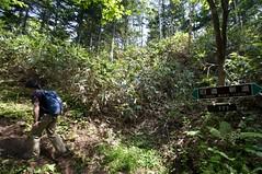 登山口から777mで分岐