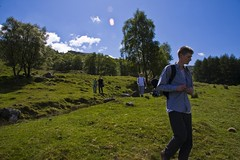 Killin (125 of 144) (Stephen_G) Tags: sky cloud mountain tree against grass rock stone forest walking landscape scotland path hill tay will loch their trossachs killin picsel sronachlachain sron chlachain a
