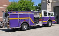 Purple & Gold (airnos) Tags: travel pirates northcarolina firetruck 2008 greenville memorialday ecu purplegold