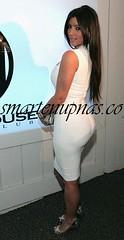 kim kardashian at a party w2
