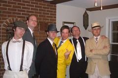 the men posing