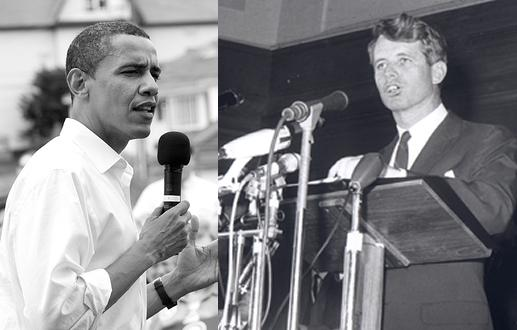 Barack Obama and Bobby Kennedy