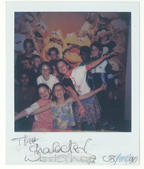 Character workshop (OwenBlacker) Tags: me polaroid bradford scan cati 1990s 1990 picnik selfpic owenblacker catrinblacker nationalmuseumofphotographyfilmandtelevision nationalmediamuseum nationalmediamuseum25years