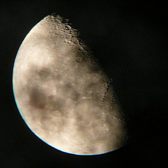 Lunar photograph, one of the first using my new telescope