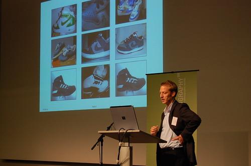 Michael Bartl talking about online community shoe customization