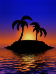Palm Tree Sunset (Gravityx9) Tags: photoshop side chop multicolored magical 000 specialeffects blogthis smorgasbord zazzle mrrogers pandorasbox 0608 artisticexpression americaamerica 060108 creativephoto amazingcapture psfo redbubble colorphotoaward eyecandyart extraordinarycompositions colourartaward coloursplosion naturesmosaics totalphotoshop allkindsofbeauty crayolacreation globalartists extremest sensationalcreations