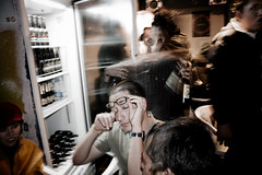 (oscar juarez) Tags: people man mexico glasses fridge df glow bottles beers flash drinks edgar refrigerator ajusco paniagua mobformat11crowd