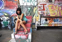 (Dlicate&Saine) Tags: girl beautiful lyon graffitti brunette tania frichervi