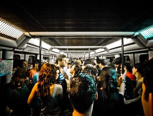 El metro era una fiesta