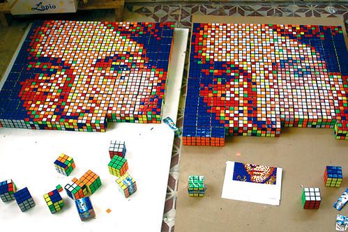 rubiks cube portraits