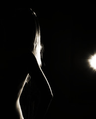 #177/366 - Curves (CrzysChick) Tags: light portrait bw selfportrait black me oneaday self myself curves curvy sp 365 day177 366 project365 365project