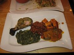 Tawa: Lunch buffet - haryali tangdi kabab, lamb szechwan, chili paneer, methi malai mutter, sindhi kadhi
