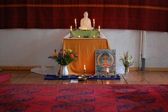 our provisionally built shrine room in Strodehne