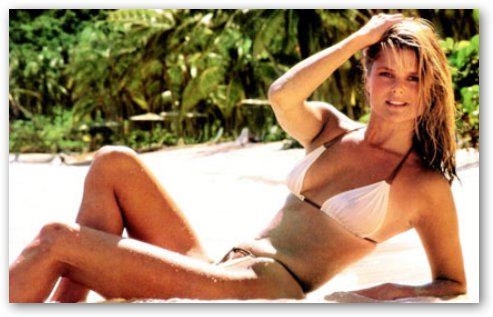 Christie Brinkley on Beach
