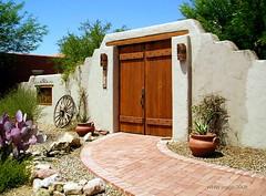 Western Ambience (ScenicSW) Tags: door arizona gate entrance adobe tucsonarizona desertsouthwest scenicsw virtualjourney