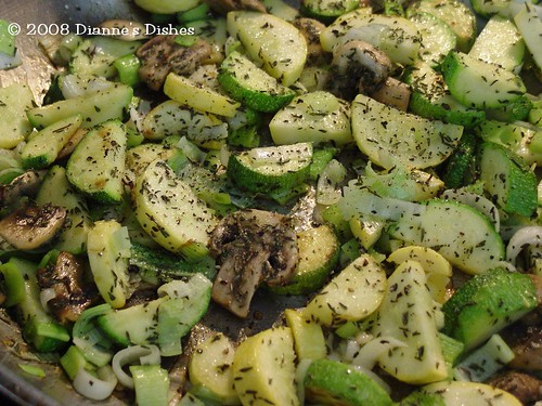 Wild Rice Squash Bake: Veggies and Herbs