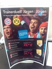 Karten der Telekom  für den Fußball-Supercup