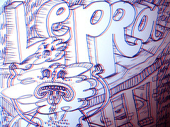 lepra (William  Zwaardvis) Tags: bored doodle dummy typo hallo buidling lepra