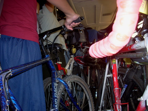 Crowded Caltrain bike car